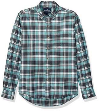 Buttoned Down Amazon Brand Men's Slim Fit Supima Cotton Plaid Flannel Sport Shirt