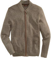Tasso Elba Men's Textured Zip-Front Cardigan, Created for Macy's