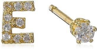 "Tai Gold Initial ""E"" Post Stud Earrings"
