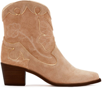 Sophia Webster Shelby Mid Ankle Boot Taupe