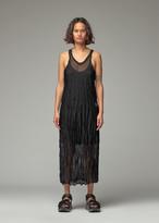 Yohji Yamamoto Y's By Y's by Women's Vertical Wrinkle Washer Knit Dress in Black Size 2