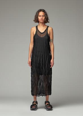 Y's by Yohji Yamamoto Women's Vertical Wrinkle Washer Knit Dress in Black Size 2