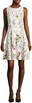 J Taylor Sleeveless Floral Fit & Flare Dress