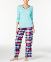 Charter Club Knit Top and Printed Pants Mix-It Pajama Set, Only at Macy's