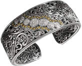 Effy Balissima by Diamond Round Swirl Diamond Cuff (1/4 ct. t.w.) in 18k Gold and Sterling Silver