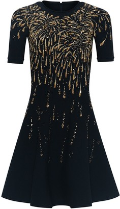 Oscar de la Renta Fireworks Sequin Mini Dress