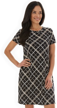 Apt. 9 Women's Print Cap-Sleeve Swing Dress