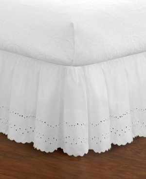 Levinsohn Textiles Fresh Ideas Ruffled Eyelet King Bed Skirt Bedding