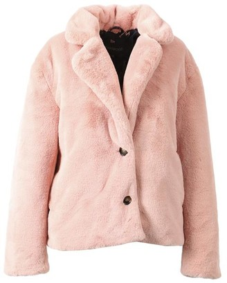 Oakwood Login Pink Teddy Coat - X Small