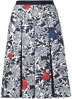 Sophie Theallet garden print pleated skirt