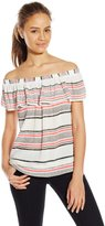 Jolt Women's Striped Off The Shoulder Top