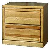 Forest Designs Bullnose Two Drawer Nightstand: