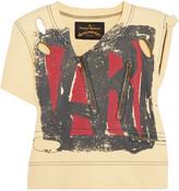 Vivienne Westwood Zip-detailed printed cotton-jersey top