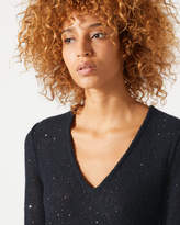 Jigsaw Sparkle V Neck Jumper