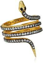 "Azaara Static"" Yellow Gold Snake Ring, Size 6"