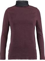 Majestic Cotton And Cashmere-Blend Turtleneck Top