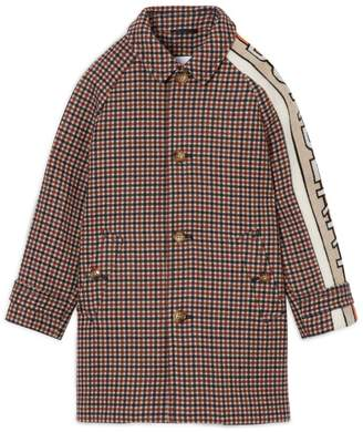 Burberry Kids Jacquard Wool Coat (3-14 years)