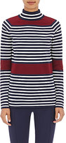 Tory Sport Women's Striped Mock Turtleneck Sweater