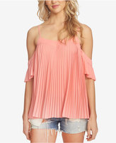 1 STATE 1.STATE Pleated Cold-Shoulder Top