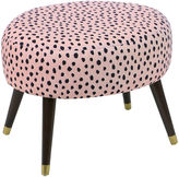 Skyline Furniture Dani Ottoman, Pink Polka Dots
