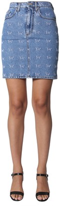 MSGM embroidered skirt