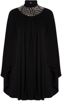 Saint Laurent Embellished Cape Dress