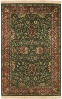 "Surya Taj Mahal TJ-837 Traditional Hand Knotted 100% Semi-Worsted New Zealand Wool Dark Forest Green 7'9"" x 9'9"" Persian Area Rug"