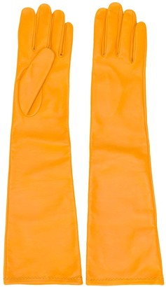 Maison Margiela Yellow Long-Length Gloves