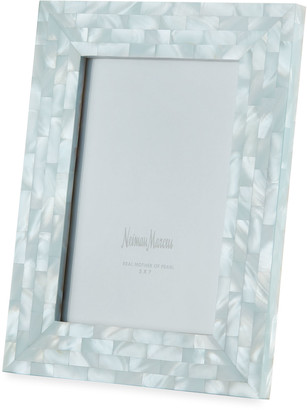 """Mother of Pearl The Jws Collections Mother-of-Pearl Picture Frame, Blue, 5"""" x 7"""""""