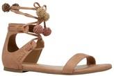 Call it SPRING Flat Ankle Strap Pom Pom Sandals