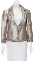 Zac Posen Silk Embroidered Blazer w/ Tags
