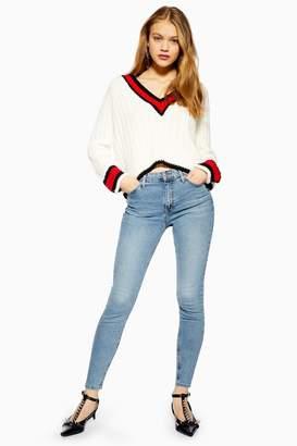 Topshop Womens Tall Bleach Jamie Jeans - Bleach Stone