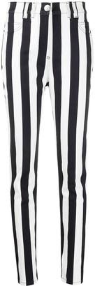 Balmain Striped Skinny Jeans