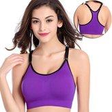 TQP-CK Women's Seamless Soft Padded Comfort Fitness Yoga Sports Bra