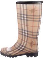Burberry Haymarket Check Rain Boots
