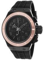 Swiss Legend Men's 'Trimix Diver' Quartz Stainless Steel and Silicone Casual Watch, Color:Black (Model: 13845-BLK-RBA)