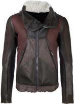 Rick Owens panelled jacket - men - Cotton/Calf Leather/Lamb Skin - 50