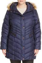 Marc New York Plus Renee Faux Fur Trimmed Puffer Coat