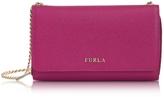 Furla Babylon Bi-Fold Saffiano Leather Wallet w/Chain