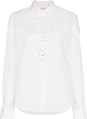Moncler Shirt With Floral Applique