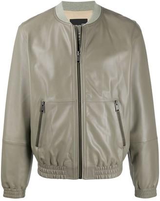 Yves Salomon Leather Bomber Jacket