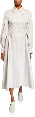 Co Flared Shirtdress