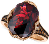 LeVian Le Vian Chocolatier Pomegranate Garnet (6-9/10 ct. t.w.) and Diamond (3/8 ct. t.w.) Ring in 14k Rose Gold