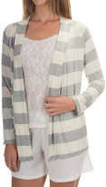 Calida Favourites Open-Front Lounge Shirt - Single Jersey, Long Sleeve (For Women)