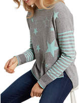 White Stuff Amour Star Jumper, Grey/Multi