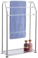 Acrylic 3 Bar Towel Rack with Bottom Shelf