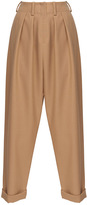 Jay Ahr Cropped Pleated Wool Trouser