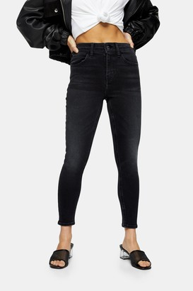 Topshop Womens Petite Four Skinny Jeans - Mid Stone
