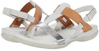 Ecco Flash T-Strap Sandal (Merigold/Gravel/Rose Dust Cow Nubuck/Cow Nubuck/Cow Nubuck) Women's Shoes