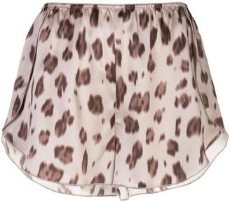 Anine Bing Jade leopard-print silk shorts